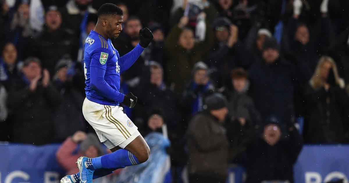 League Cup: Iheanacho's late goal for Leicester secures draw against Villa in semi-final first leg