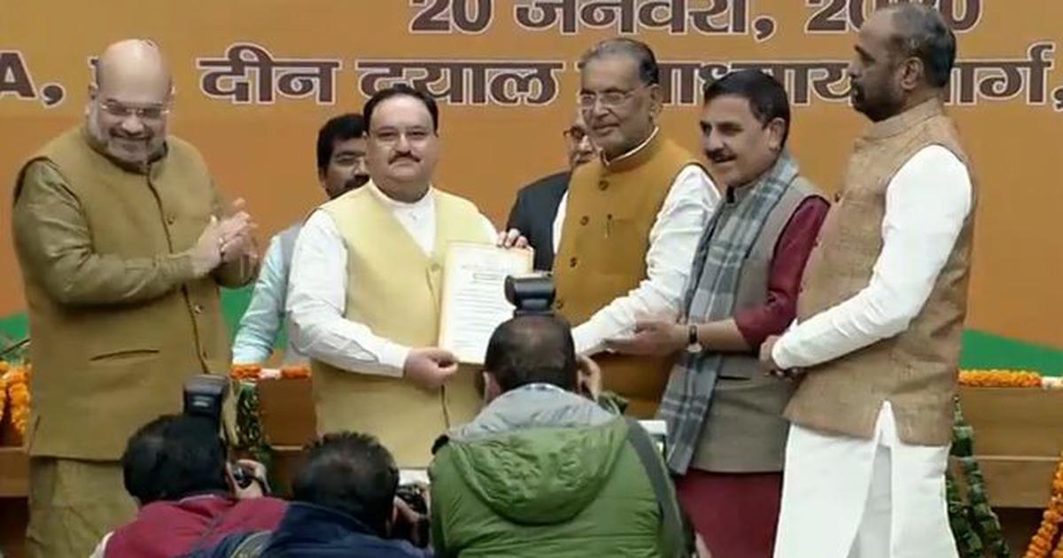JP Nadda elected BJP president, succeeds Amit Shah