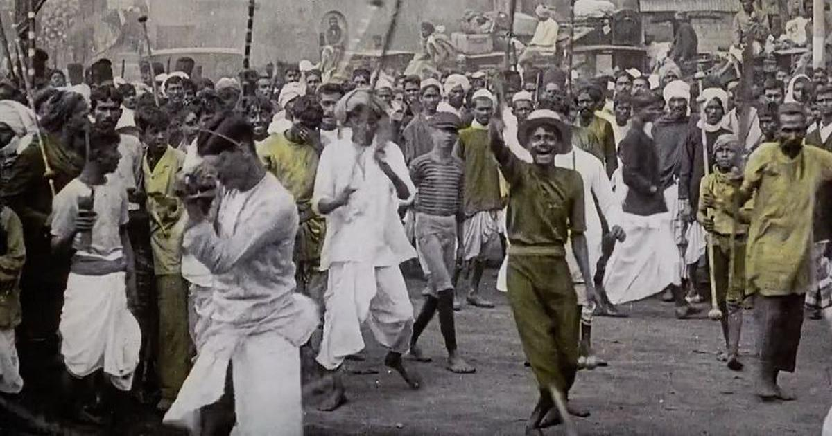In a documentary on the British view of India before freedom, the Empire strikes back