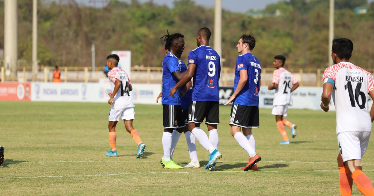 I-League: Mason Robertson, Gnohere Krizo's goals against Indian Arrows power Real Kashmir to victory