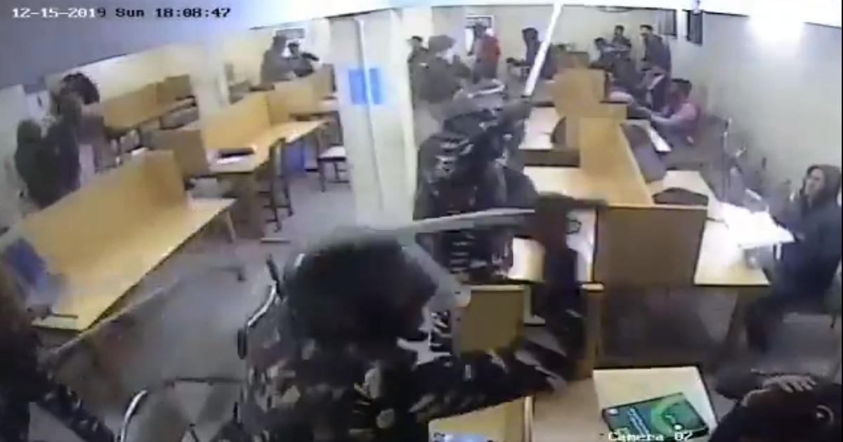 Watch: Jamia CCTV footage appears to show Delhi Police assaulting students in library on December 15