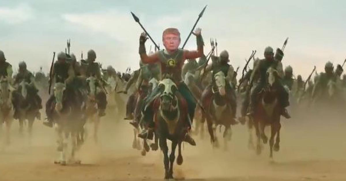 Trump shares video of himself as 'Bahubali', says he looks forward to meeting his 'friends' in India