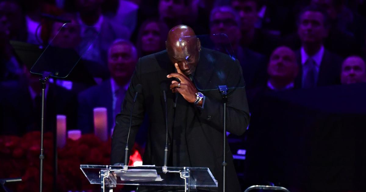 Watch: Michael Jordan's emotional tribute at the Kobe Bryant memorial