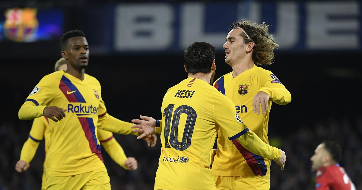 Champions League: Antoine Griezmann's strike helps Barcelona earn draw in first leg against Napoli