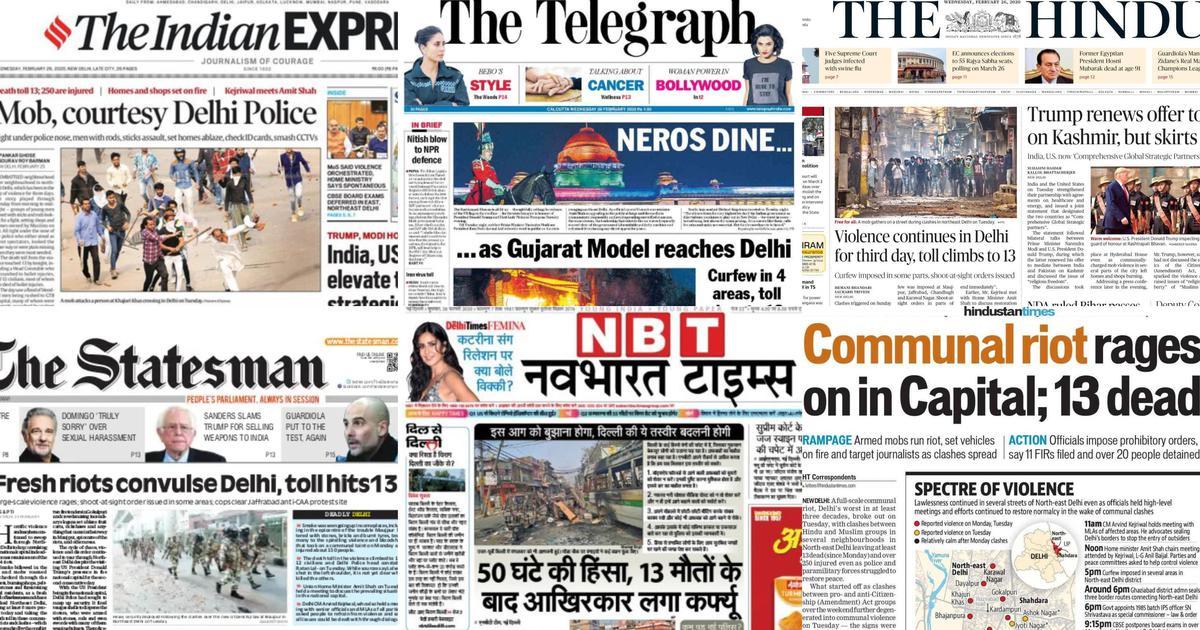 'Gujarat model reaches Delhi': How newspapers reported Delhi violence