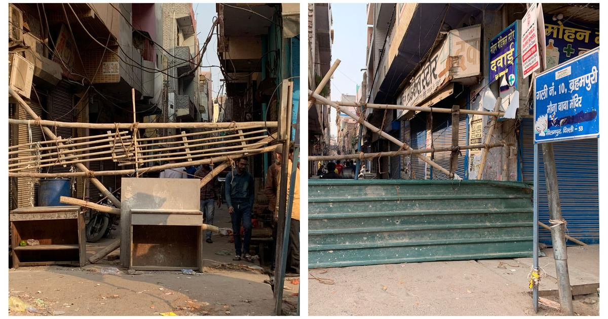 Divided city: How barricades came up overnight between Hindu and Muslim neighbourhoods in Delhi