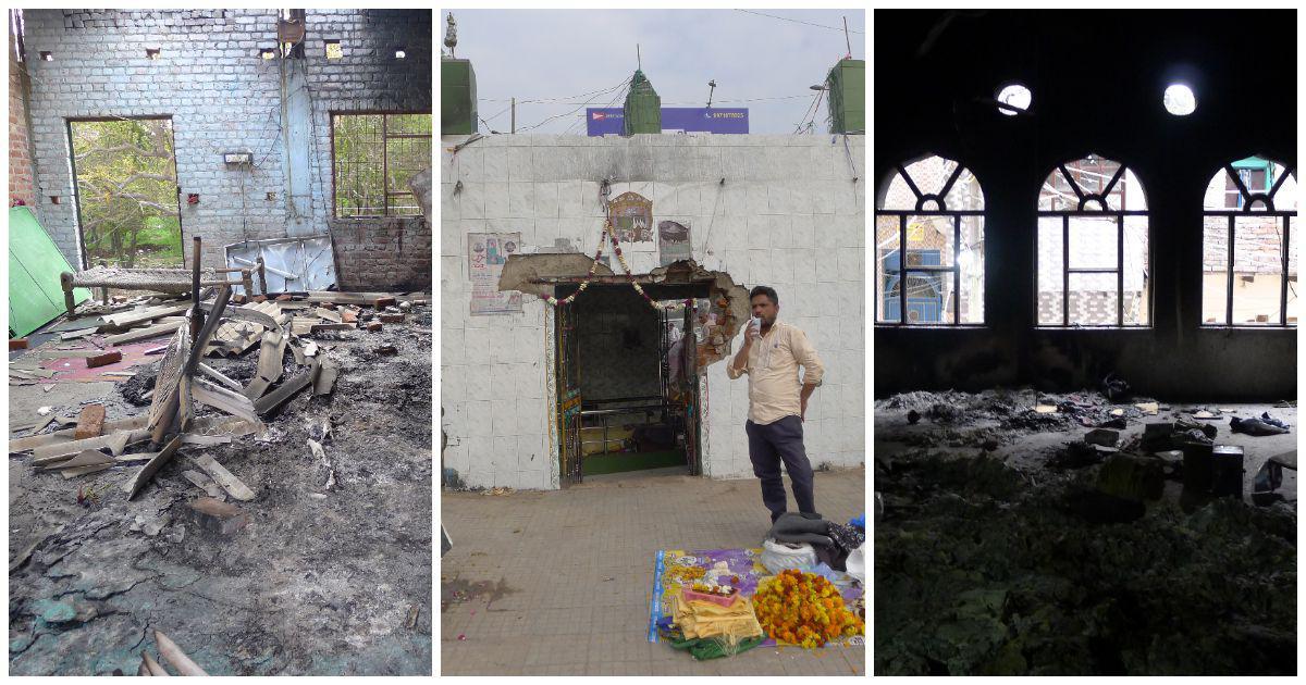 In photos: Fourteen Delhi mosques and a dargah that were burnt by Hindutva vigilantes in three days