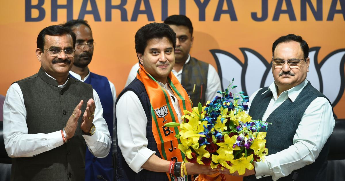 Jyotiraditya Scindia joins BJP a day after Congress exit, named Rajya Sabha candidate