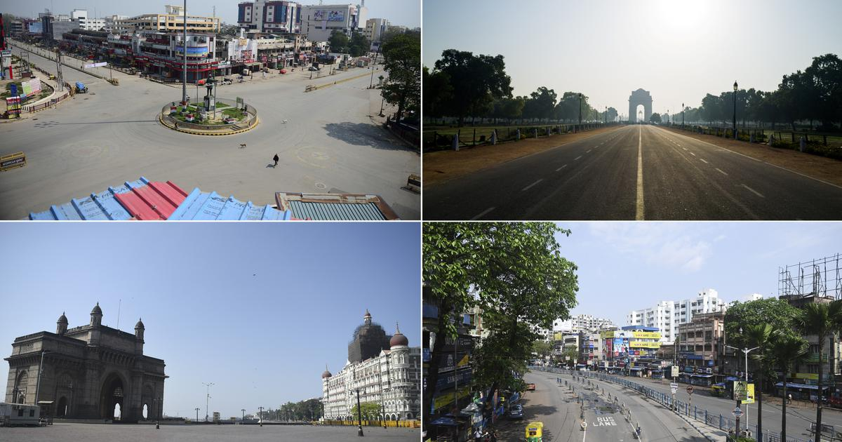 In pictures: Deserted streets as millions of Indians stay home to contain COVID-19 spread