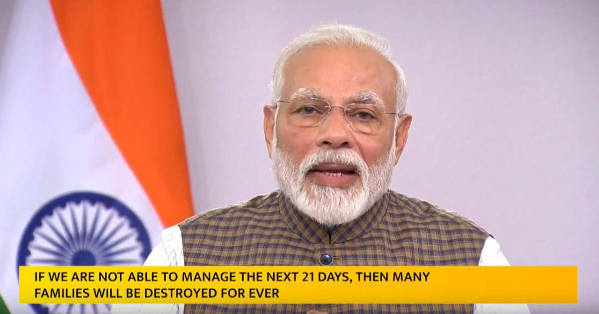 Coronavirus: No need to panic, Modi says after announcing 21-day lockdown