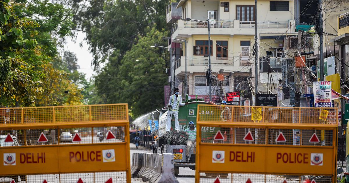 Covid-19: Delhi expands list of containment zones to 43 areas as number of cases crosses 1,100