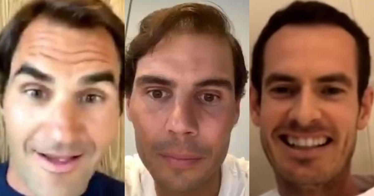 Wonderfully endearing: Twitter reacts to Nadal's struggle during Instagram live with Federer, Murray