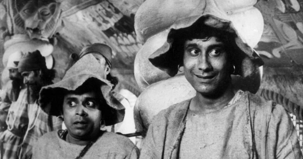 Flashback: On the sets of Satyajit Ray's 'Goopy Gyne Bagha Byne', all dressed up and nowhere to go