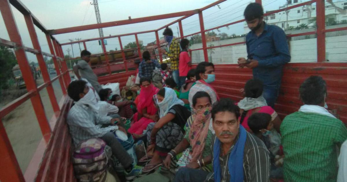 Chhattisgarh's migrant workers, stranded in Telangana, make desperate journeys home
