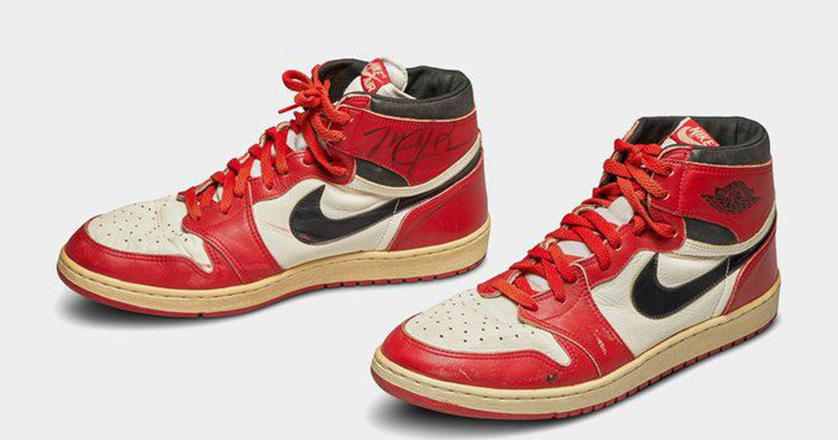 Michael Jordan's game-worn 1985 sneakers sell for a record-breaking $5,60,000