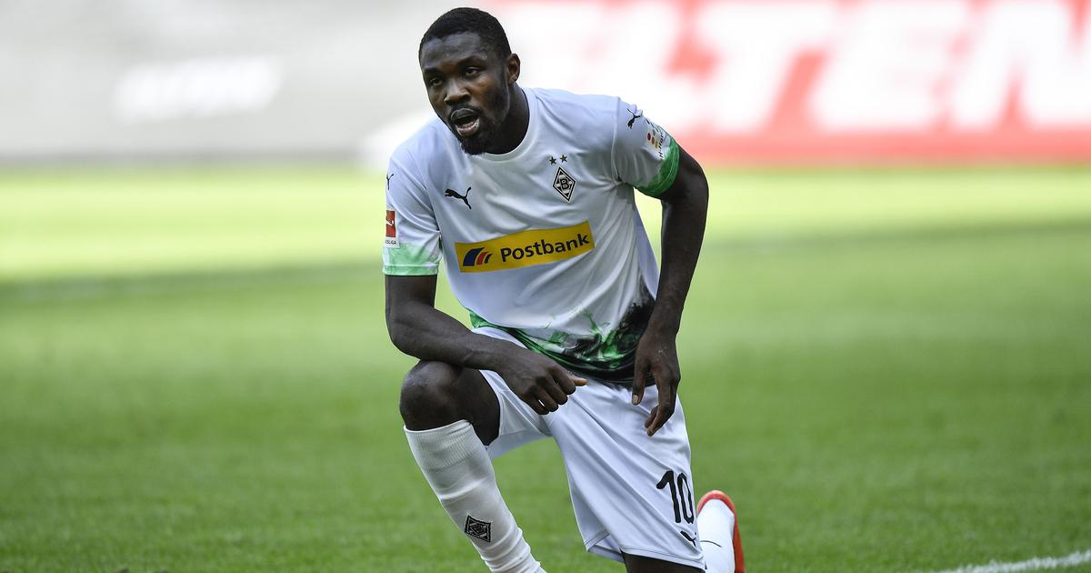 Watch: Marcus Thuram stars in Gladbach's Bundesliga win, takes a knee after scoring