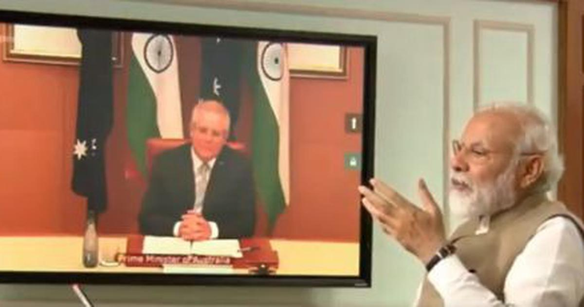 'Perfect time to strengthen relations,' says Narendra Modi in online summit with Australian PM
