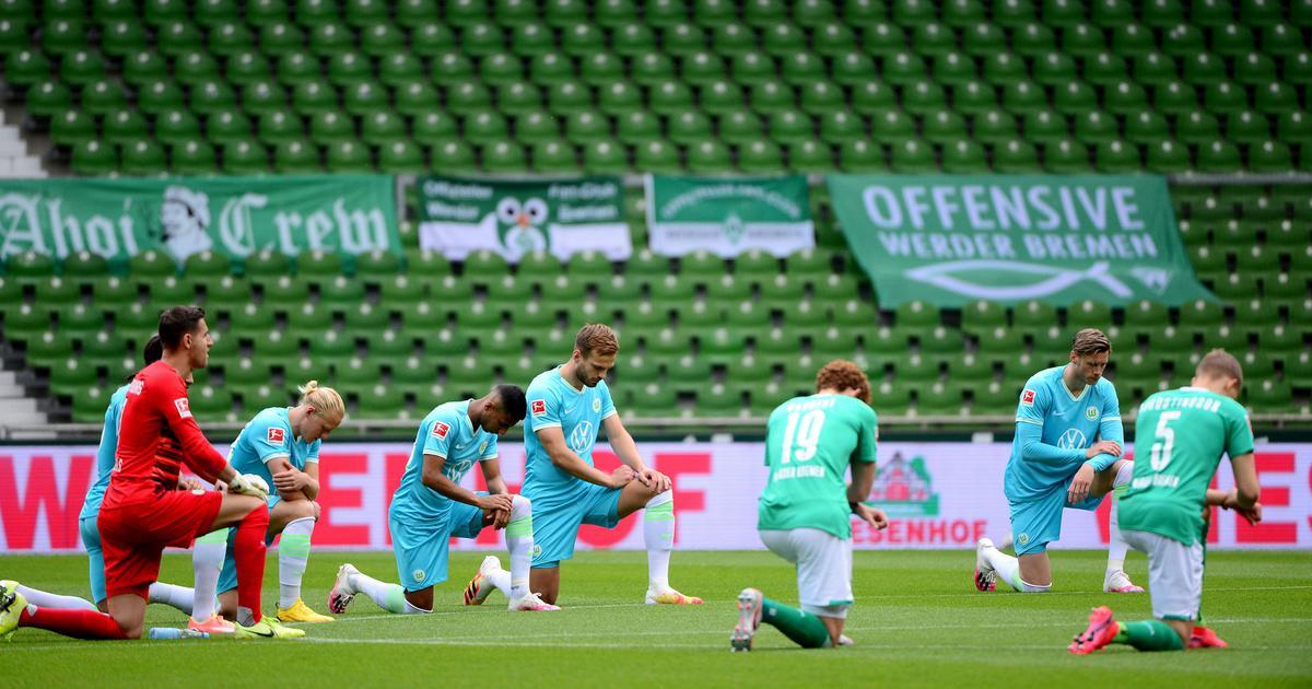 Bundesliga: Bremen beaten by Wolfsburg as teams knee ahead of match to support #BlackLivesMatter