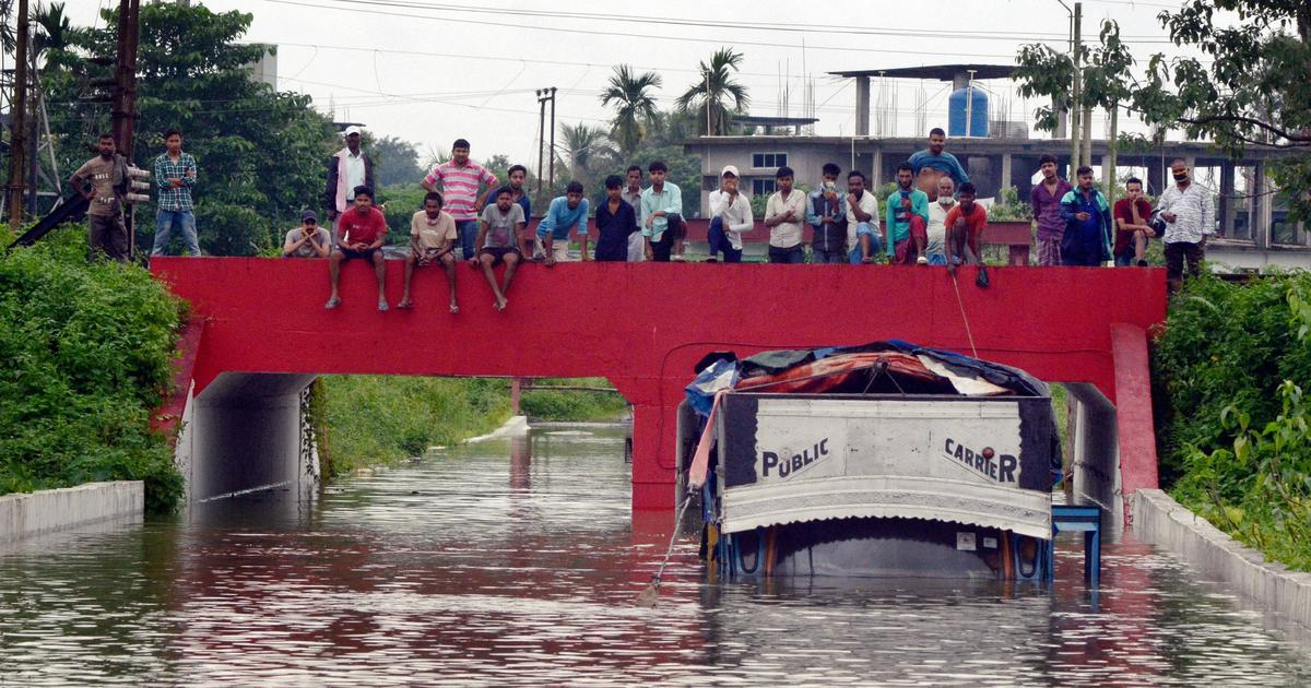 Assam floods: Toll rises to 16, over 2.5 lakh people affected as water flows above danger level
