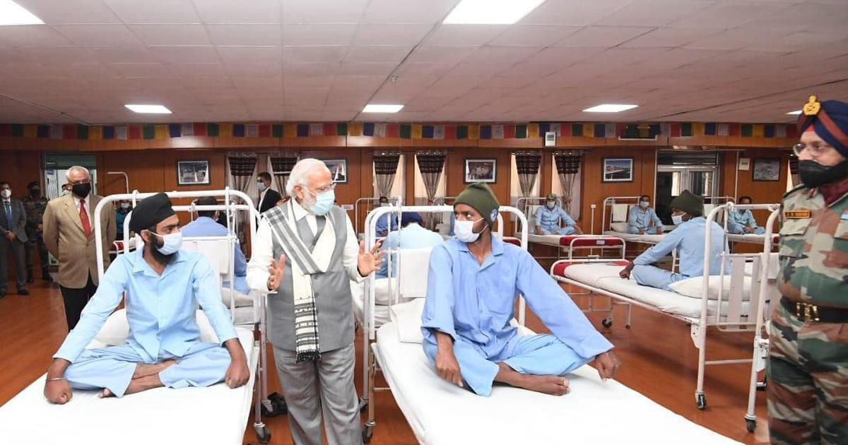 Modi's visit to Leh hospital was not staged, accusations are 'malicious, unsubstantiated': Army