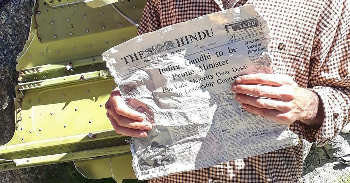 'Indira Gandhi to be PM': French glacier melts to reveal Indian newspapers from 1966
