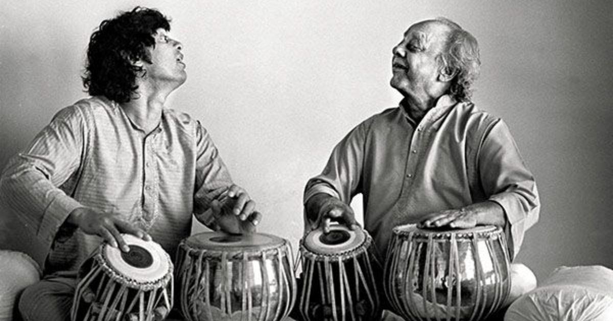 Listen: The 11-matra Char taal ki sawari taal performed by Alla Rakha, Zakir Hussain and others