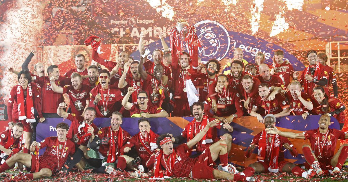 Jurgen Klopp's Liverpool lift Premier League trophy after thrilling 5-3 win over Chelsea