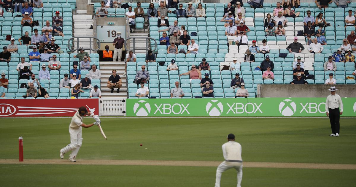 Return of the fans: How a cricket match in England welcomed back spectators, physically distanced