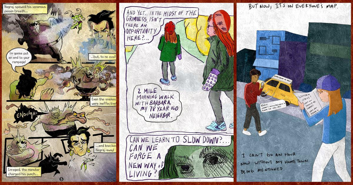 How comics creators are using the theme of the pandemic to depict the new normal in everyone's lives