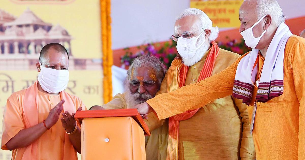 Coronavirus: Ram temple trust head tests positive, was on stage with Modi last week