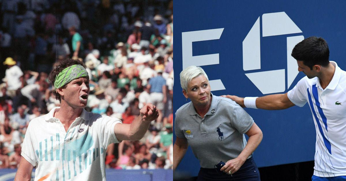 Djokovic Disqualified At Us Open Mcenroe Agassi Kyrgios Among Most Infamous Defaults In Tennis