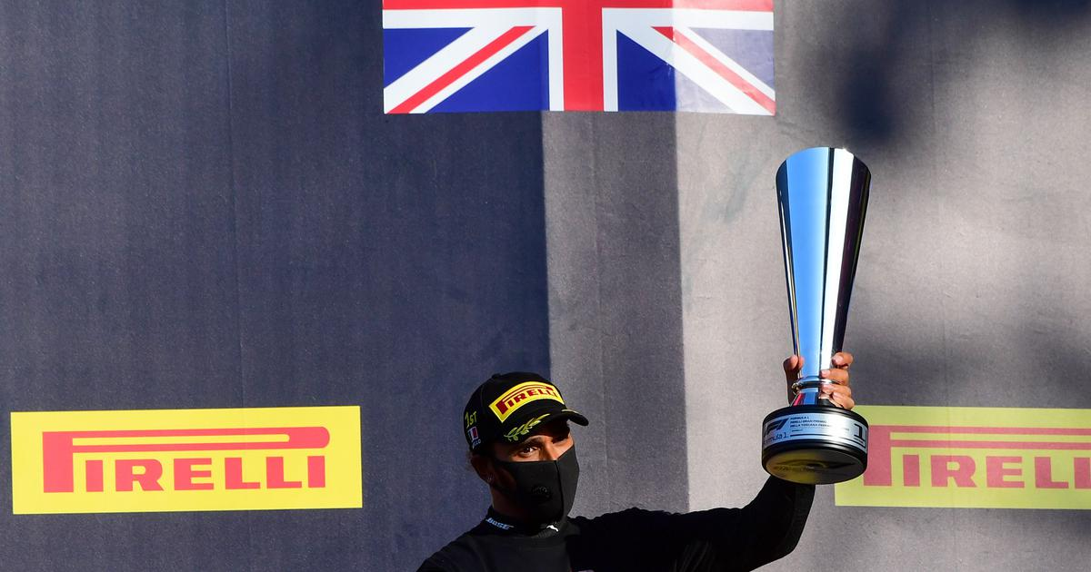 Formula One: Lewis Hamilton extends lead after victory in chaotic Tuscan Grand Prix
