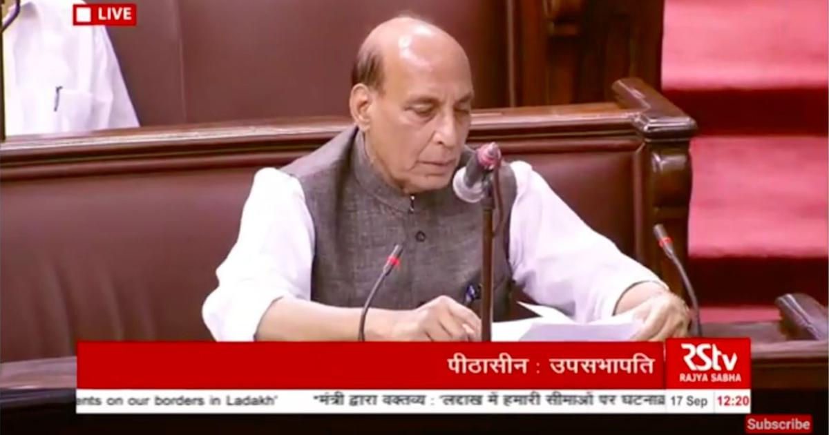 China illegally occupies around 38,000 square km land in Ladakh, Rajnath Singh tells Parliament