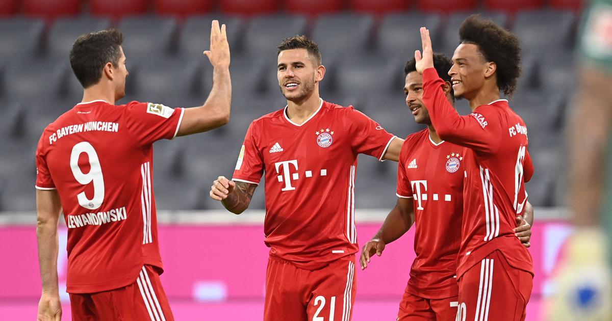 Watch Lewandowski Makes Epic Assist As Bayern Munich Hit Eight Past Schalke In Bundesliga Opener