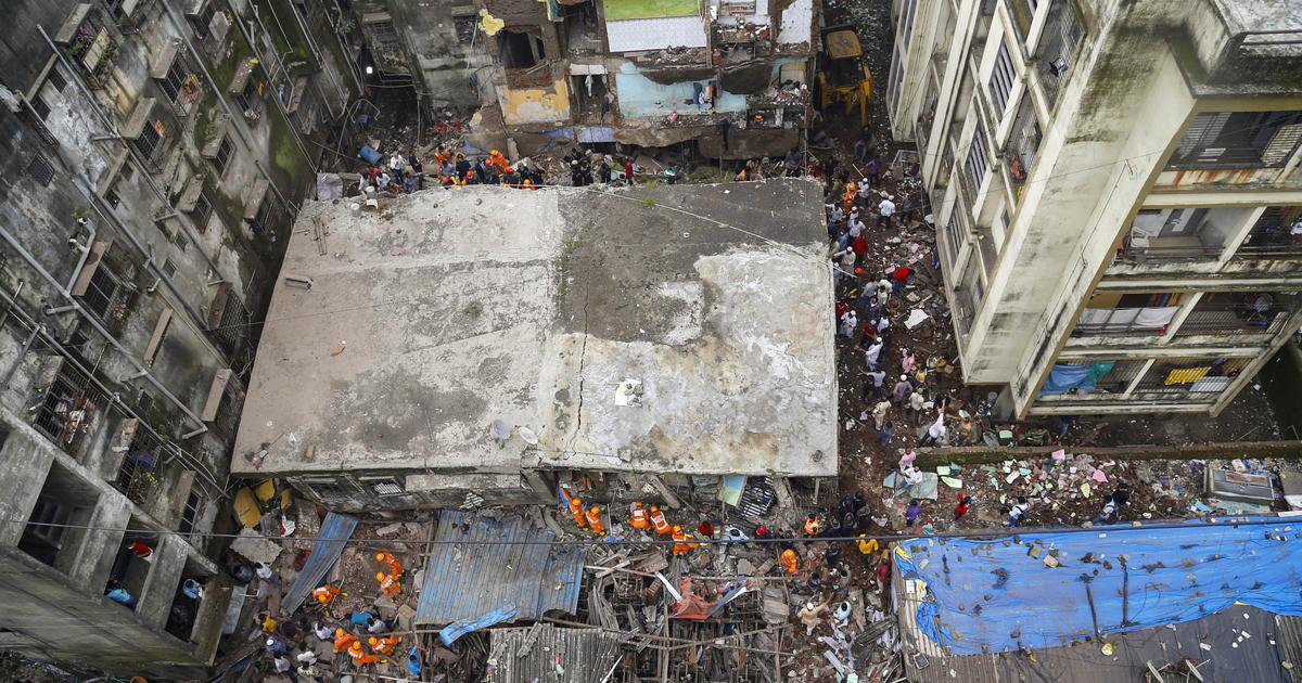 Maharashtra: Ten die after building collapses in Bhiwandi, more than 20 people feared trapped