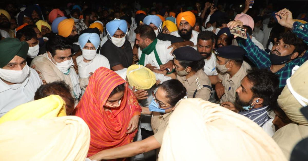 Farm laws: SAD's Harsimrat Kaur Badal arrested in Punjab during protests
