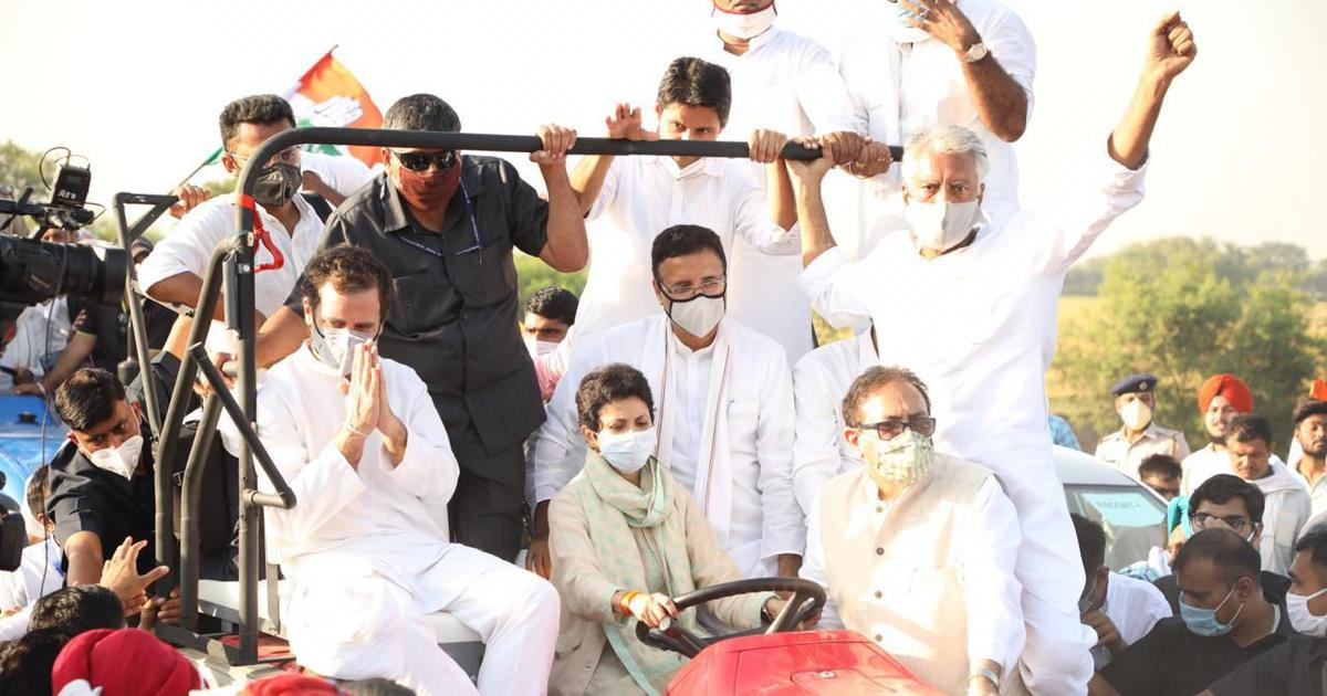 Farm laws: Rahul Gandhi takes tractor rally to Haryana; protests begin in Sirsa district