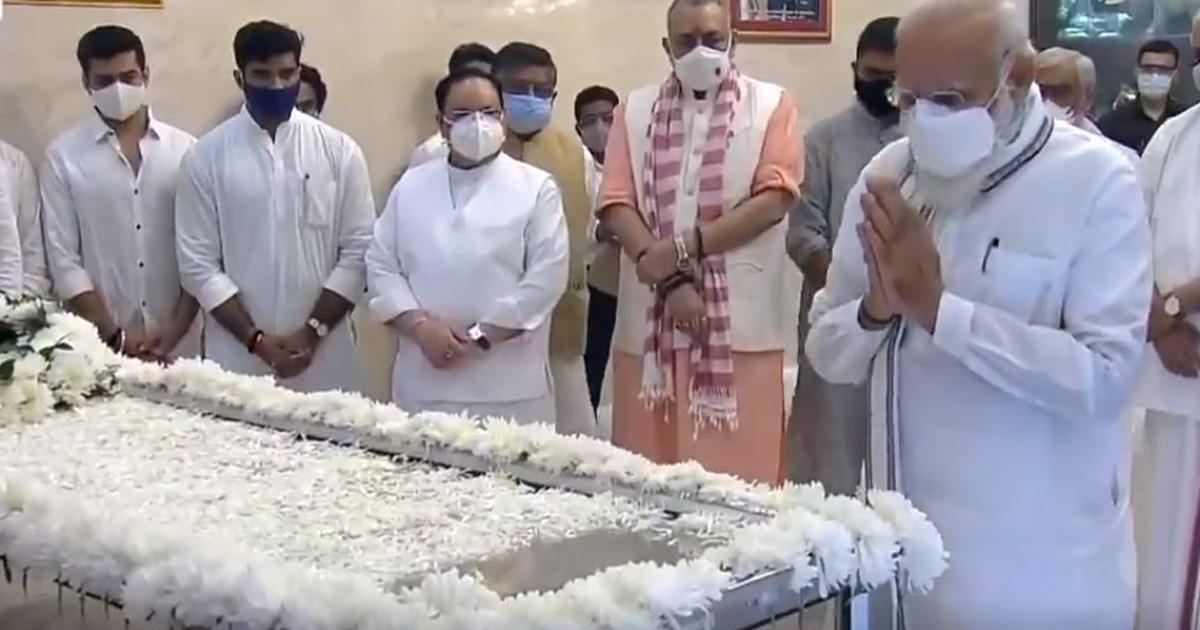 Ram Vilas Paswan's body taken to his Delhi home, cremation on Saturday