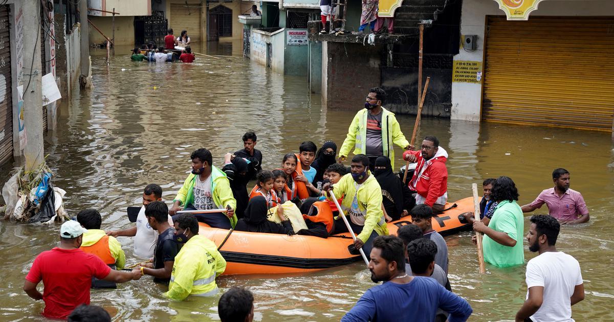 Heavy rains kill 83 in Maharashtra, Karnataka and Telangana