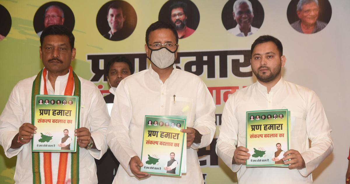 Bihar elections: Congress, RJD, Left alliance releases manifesto, promises to scrap new farm laws