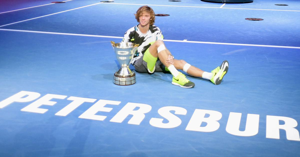Tennis: Andrey Rublev puts personal grief aside to win St Petersburg Open with straight-set victory