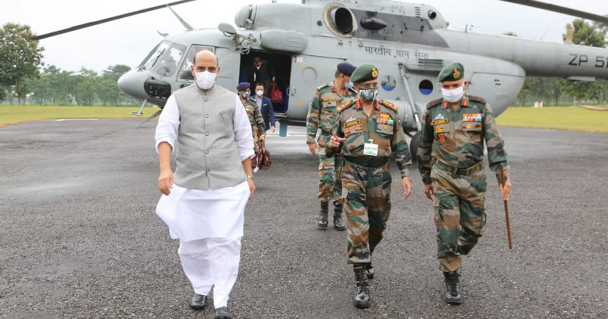 Want border tensions with China to end, but will not let go off an inch of land, says Rajnath Singh