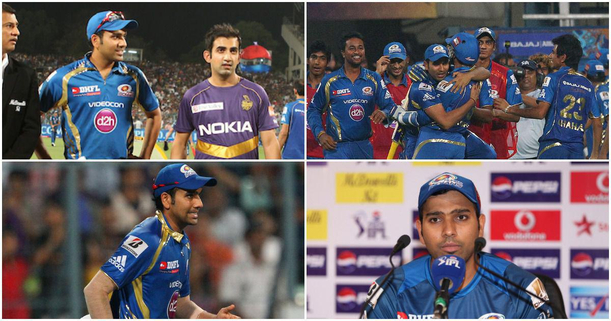 Pause, rewind, play: When Rohit Sharma captained Mumbai Indians in IPL for the first time