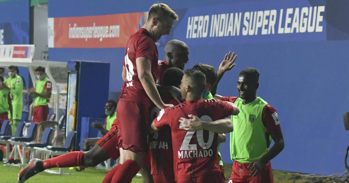 ISL highlights: NorthEast United ride of Kwesi Appiah's penalty to see off 10-man Mumbai City FC