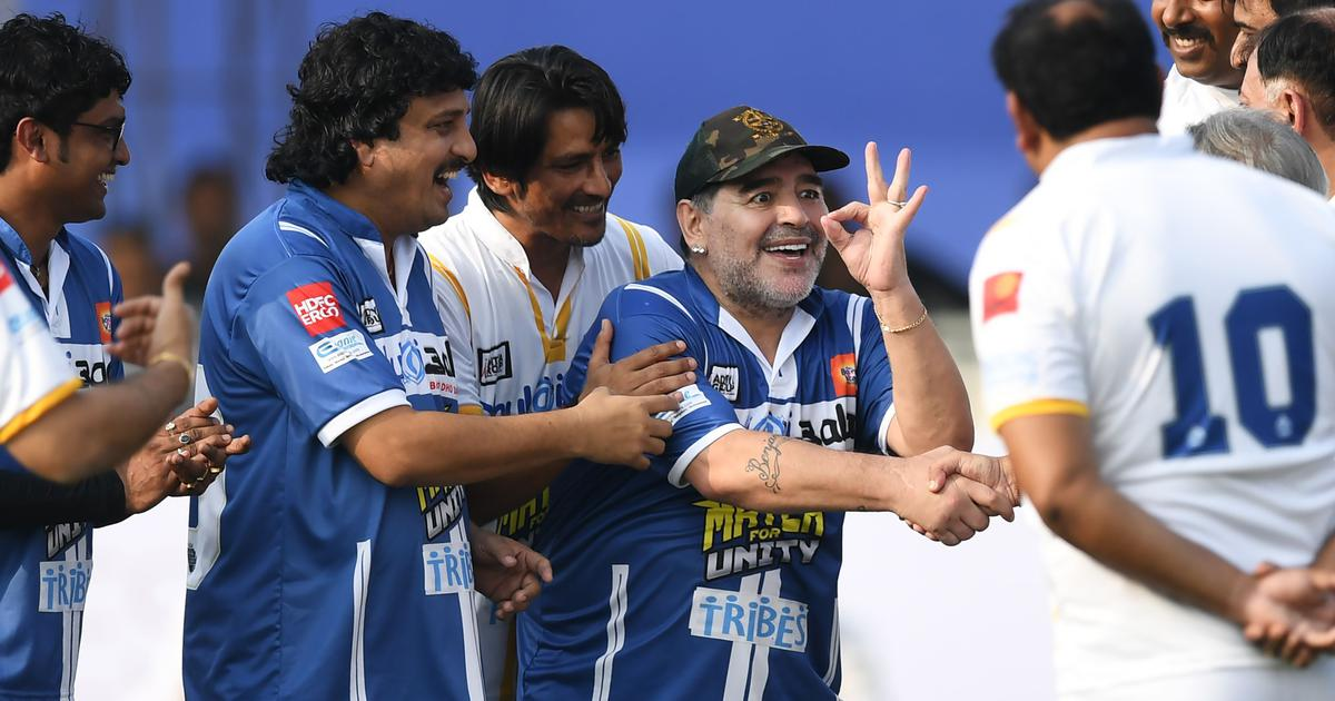 Maradona's India connection: Playing football with Ganguly in Kolkata, now a statue in Goa and more