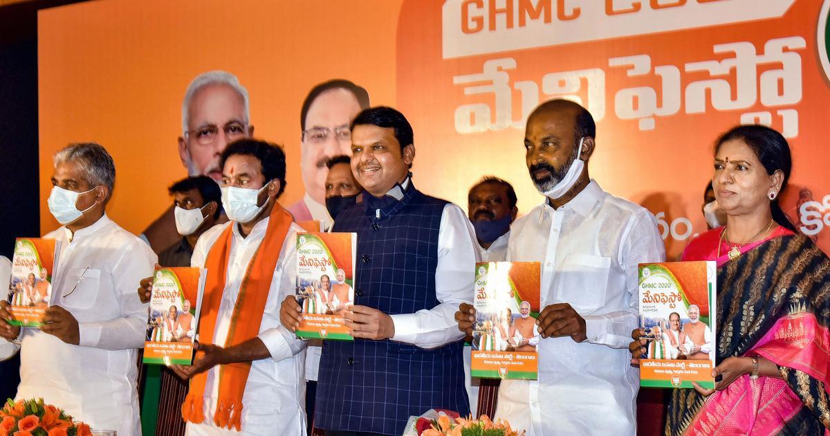Hyderabad civic polls: BJP promises free coronavirus vaccine, testing in its manifesto