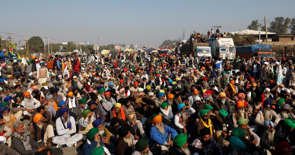 Farmers protest at Delhi's Tikri border despite permission to demonstrate  in Burari