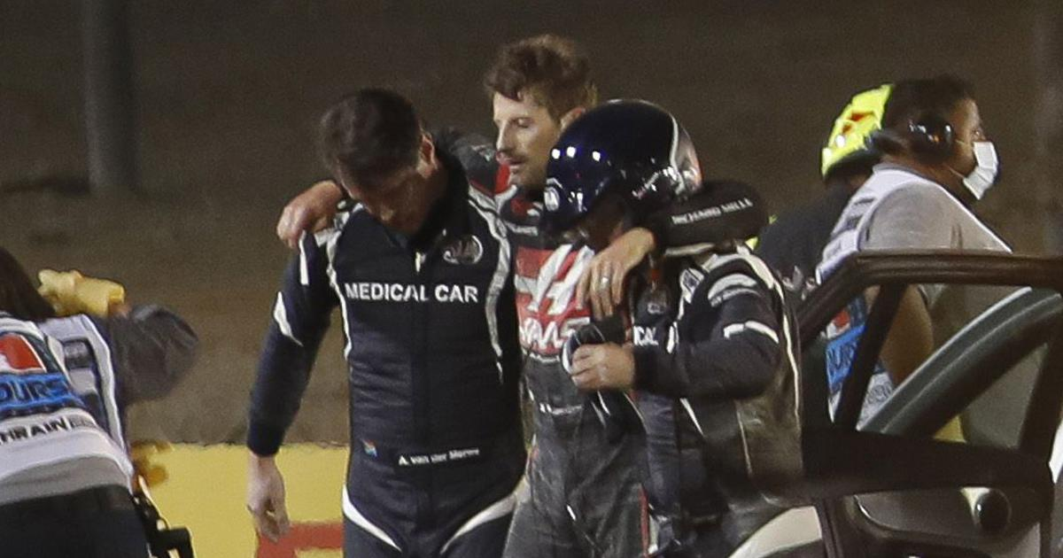 Watch: I'm sort of okay, says Grosjean after Bahrain GP crash as F1 safety systems receive praise