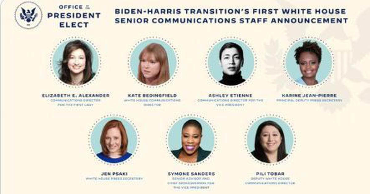 US President-elect Joe Biden names all-women press team