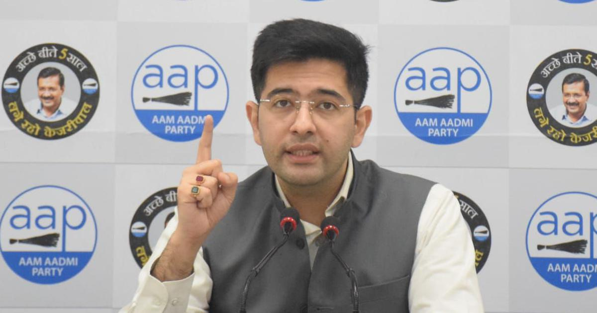 BJP's 'authorised goons' targeting AAP for supporting farmers protest, alleges Raghav Chadha